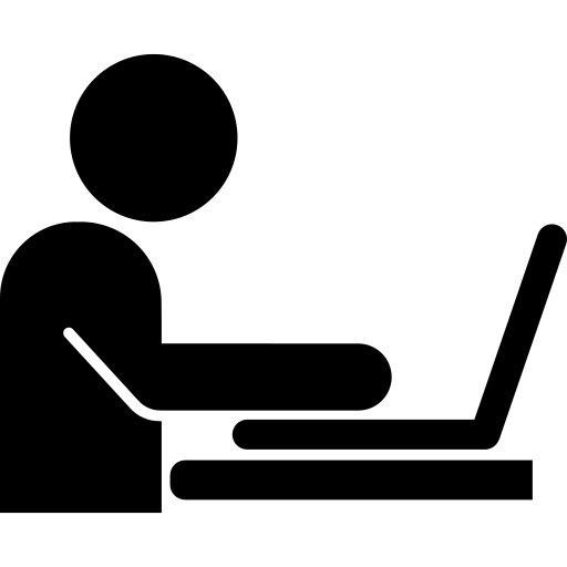 working on wellness business laptop